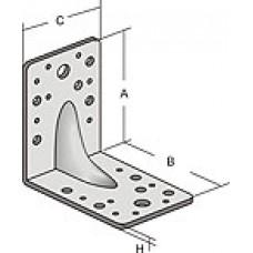 Уголок крепежный оцинк. 70*70*55*2,0 (усил.) (KUU-70x55) (1 шт)